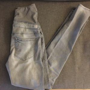 H&M Full Panel Maternity Gray Jeans